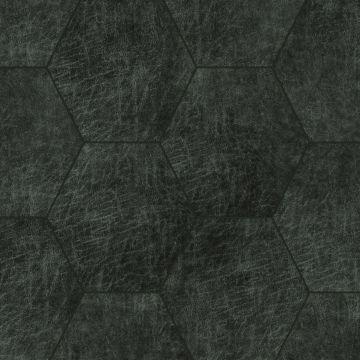 self-adhesive eco-leather tiles hexagon anthracite gray