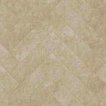 self-adhesive eco-leather tiles herring bone pattern sand beige