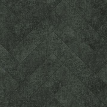 self-adhesive eco-leather tiles herring bone pattern anthracite gray