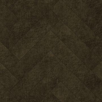 self-adhesive eco-leather tiles herring bone pattern dark brown