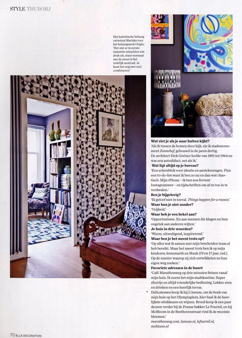 Origin luxury wallcoverings Mariska Meijers